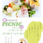 春の限定ランチ「ピクニック」3/26~